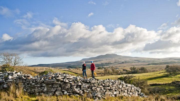 Cuilcagh Mountain from Moneygashel Cashel