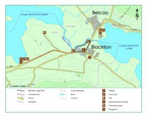 Blacklion Village Trail Map
