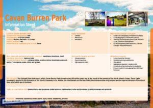 Cavan Burren Park Information Sheets