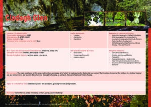 Cladagh Glen Information Sheets