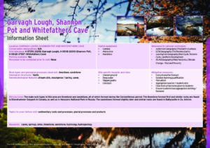 Garvagh Lough Shannon Pot and Whitefathers Cave Information Sheets