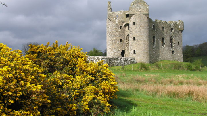 Monea Castle in Distance